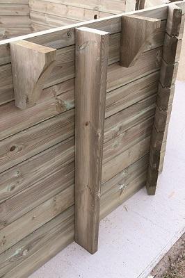 Versterkte houten wanden
