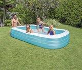 Familie zwembad opblaasbaar blauw_