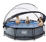 Exit opzetzwembad rond ook met zwembadtent_