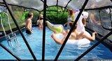 Exit zwembad Timberwood ook met overkapping_