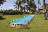 Houten inbouwzwembad Linéa_