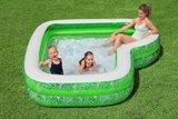 opblaaszwembad met bankje