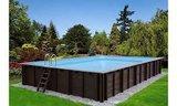 Rechthoekig houten inbouwzwembad - Helaas, niet meer leverbaar in 2021_