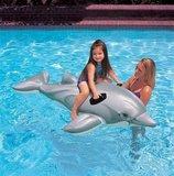 Realistische dolfijn met kind in het water