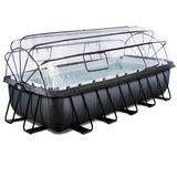 Rechthoekig opzetzwembad met overkapping