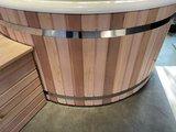 Witte kuip red cedar hout