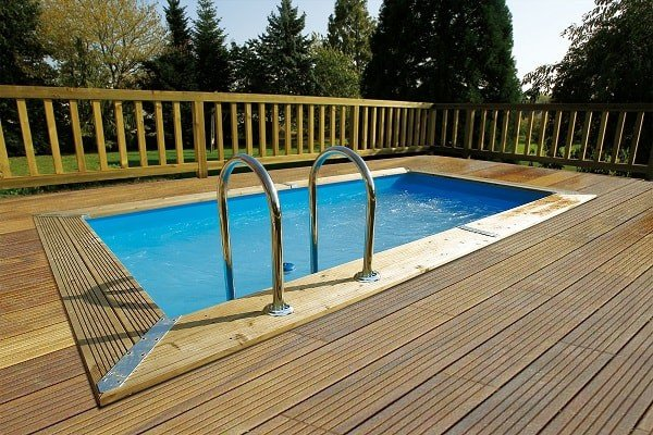 Goedkoop inbouw zwembad Woodlux