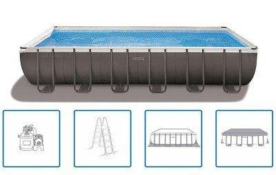 Ultra frame XTR rechthoekige opzetzwembaden
