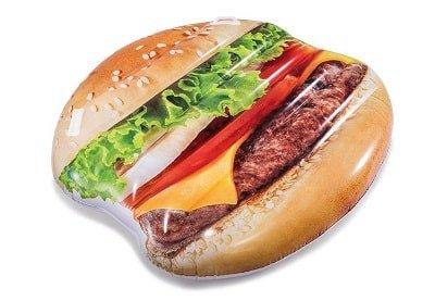Opblaasbaar eiland hamburger, smikkelend de zomer door!