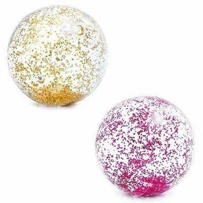 Mega strandbal met glitters