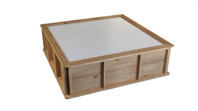 Klein houten kinderzwembad