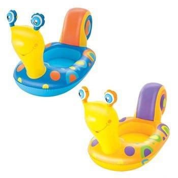 Kinderboot slak in blauw en oranje