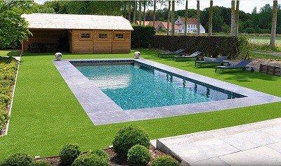 Kunstgras speciaal voor rondom zwembaden