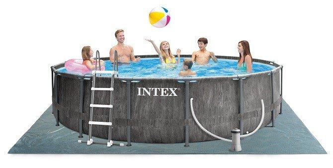 Greywood grijs Intex opzetzwembad