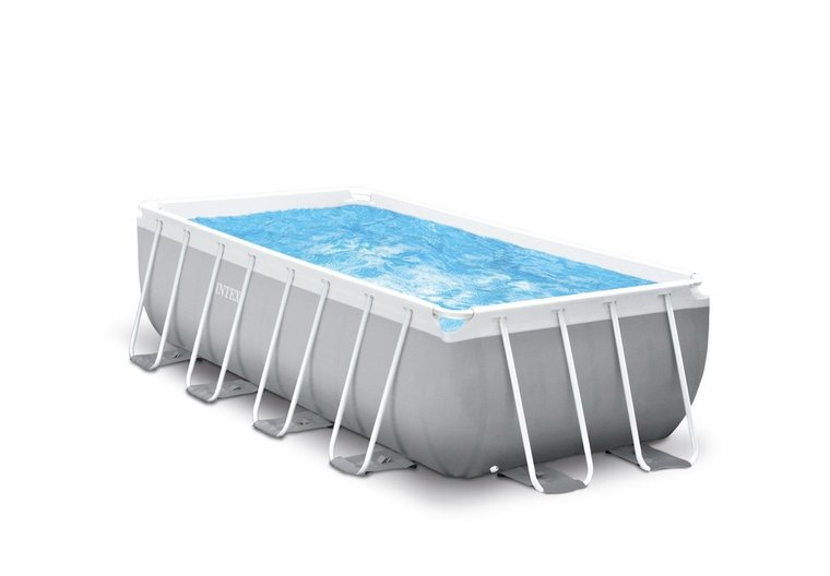 Uniek diep rechthoekig Intex Prism frame zwembad