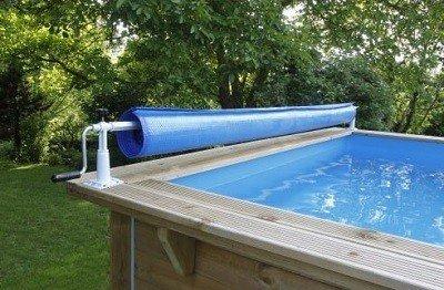 Opwikkelrol voor houten zwembaden
