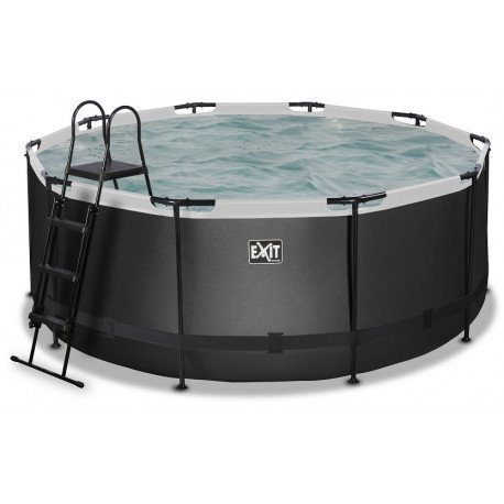 Exit Frame pool Black Leather style