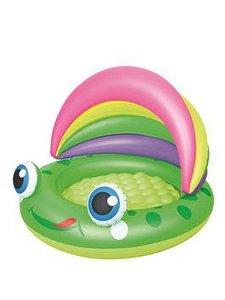 Opblaasbaar baby zwembad kikker