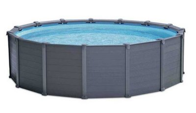 Intex opbouwzwembad Graphite panel
