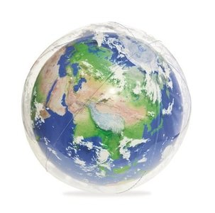 Opblaasbare strandbal globe met ledverlichting