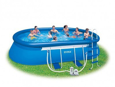 Groot opblaasbaar zwembad