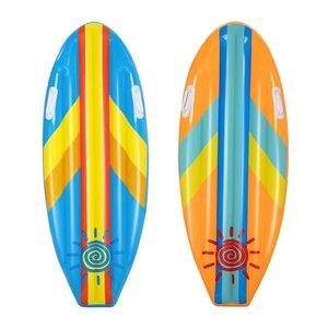 Opblaasbare surfplank roze en blauw