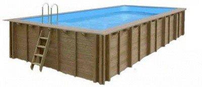 Rechthoekig houten inbouwzwembad - Helaas, niet meer leverbaar in 2021