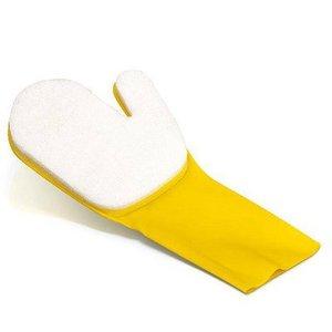 Handschoen voor schoonmaken waterlijn